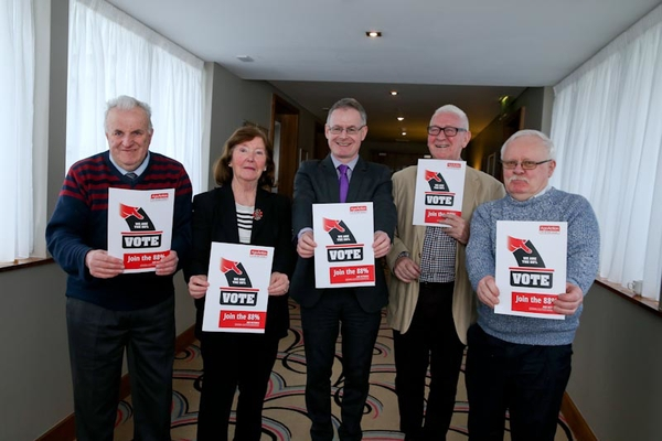 Age Action members launching their 2016 election manifesto