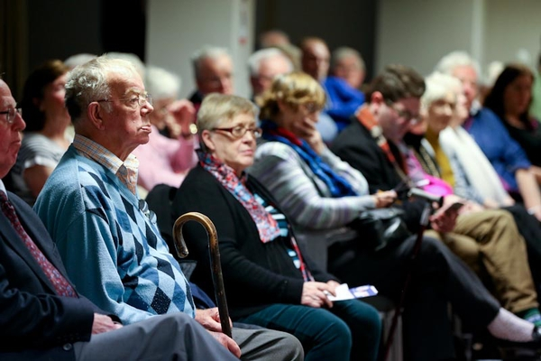 Age Action members at an election event in 2016 where they called for an increase in the State Pension.