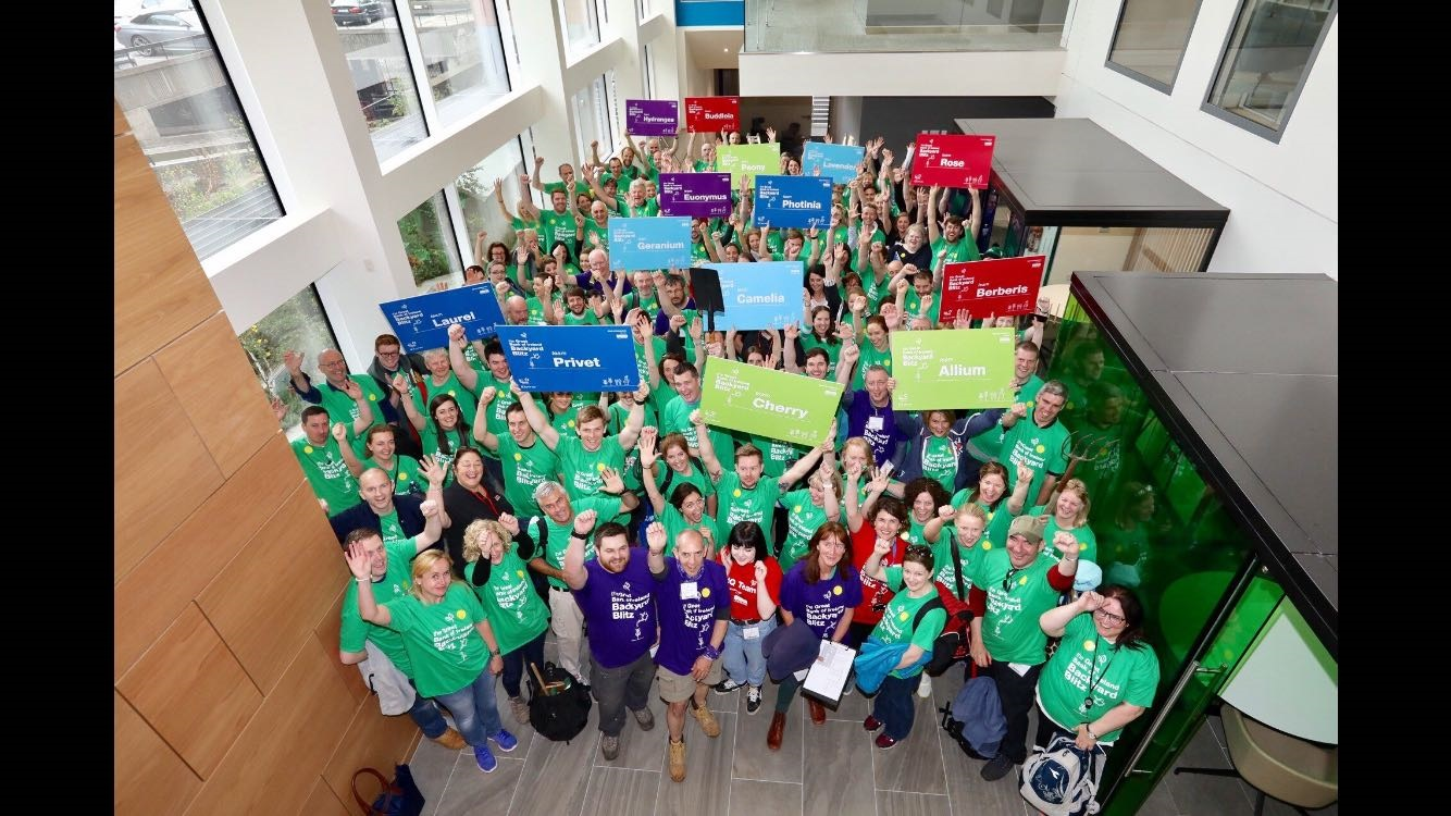 Bank of Ireland volunteers ready for the Backyard Blitz