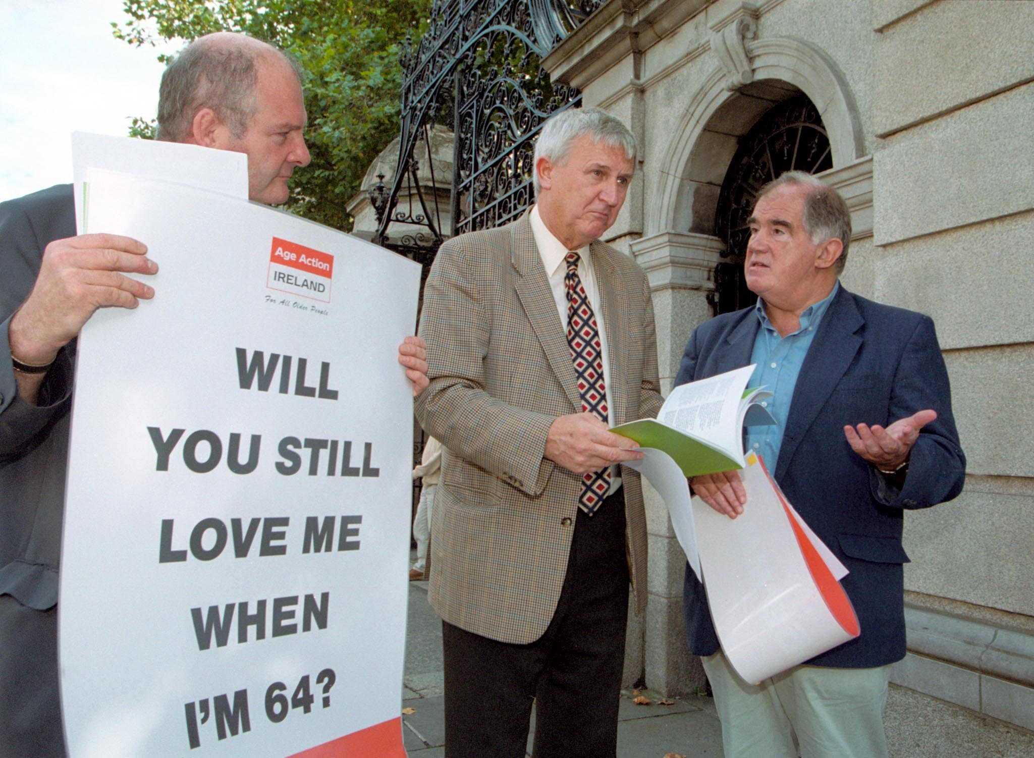 Age Action members campaigning on pension reform