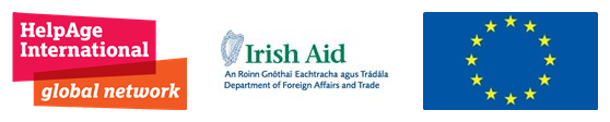 HelpAge International, EU and Irish Aid logos
