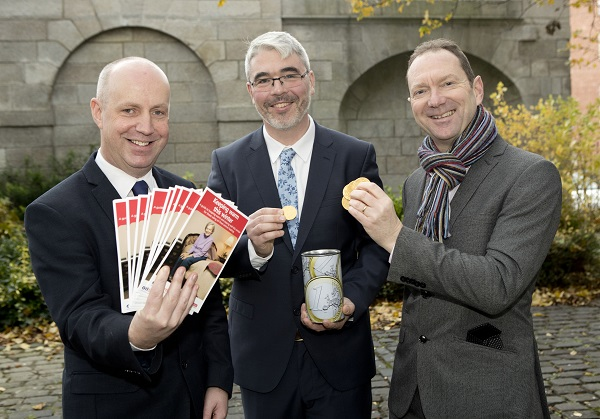 Minister Jim Daly TD with Age Action's Justin Moran and David Blevings from OFTEC
