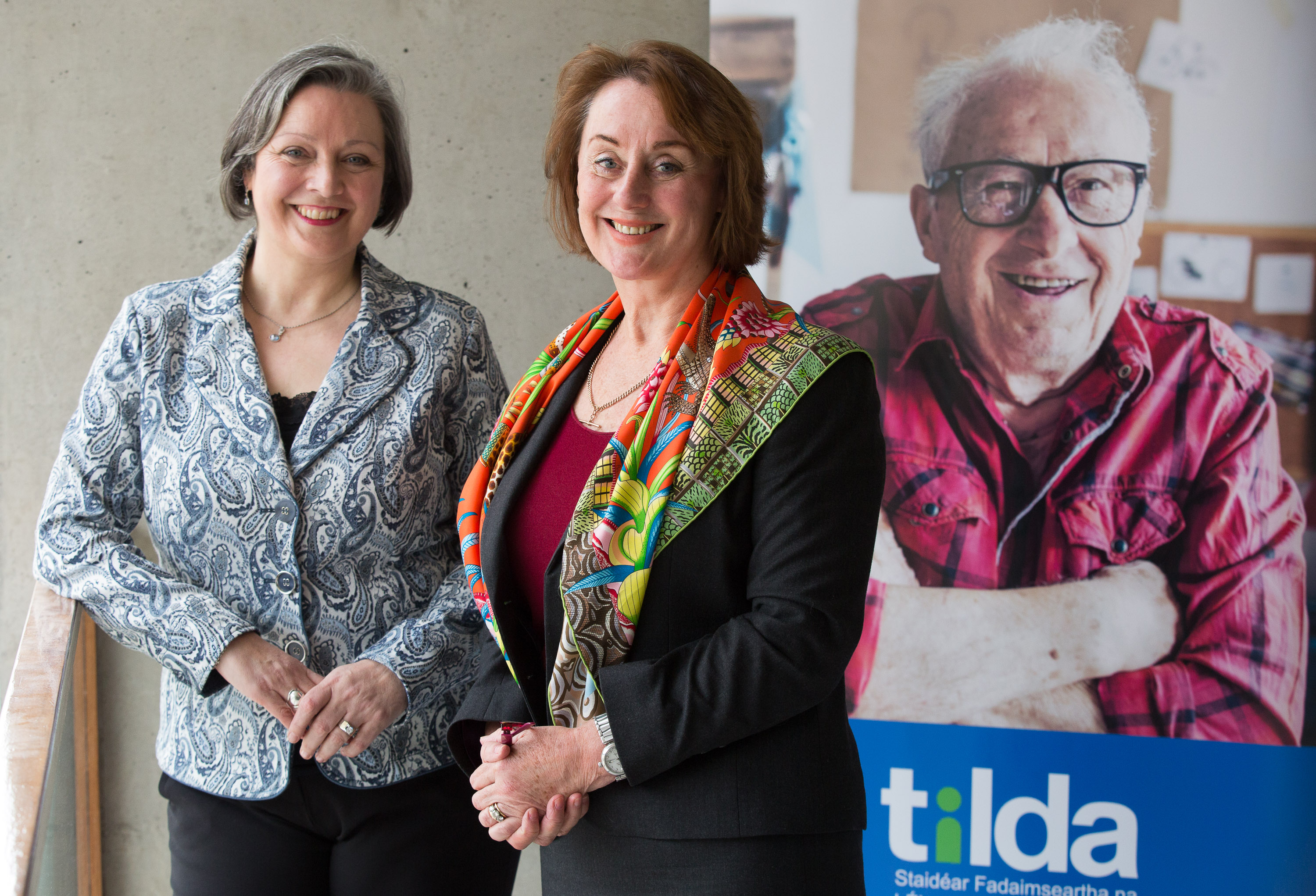 Professor Rose Anne Kenny, Principal Investigator of TILDA, and Minister Marcella Corcoran-Kennedy at the launch of the research