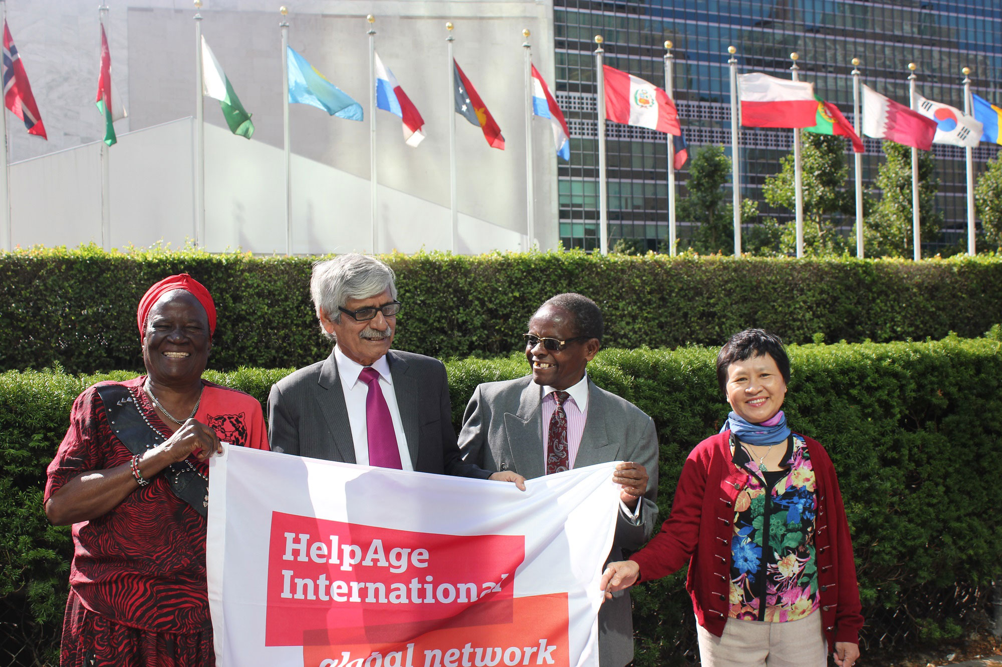 Older people attending the Open-ended Working Group on ageing in 2015 Credit HelpAge International