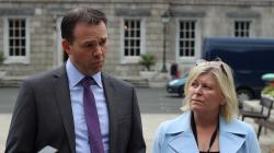 Deputy John Brady and Deputy Denise Mitchell launching a Bill to abolish mandatory retirement