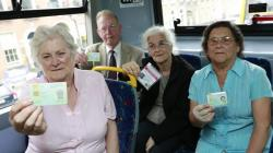 Threat to travel pass for older people has not gone away