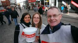 Eamon out collecting for Age Action with some colleagues