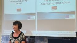 Marita O'Brien of Age Action presenting at the seminar in Emilia Romagna in Italy earlier this year