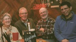 Age Action volunteers in Galway enjoying a night out together. Credit Arun Asan
