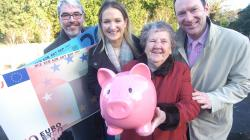 Age Action's Justin Moran, Minister Helen McEntee and David Blevings of OFTEC with Joy Cassidy from Slane launching the guide. Credit Seamus Farrelly