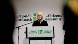 Chairperson of the Citizens' Assembly Ms Justice Mary Laffoy.
