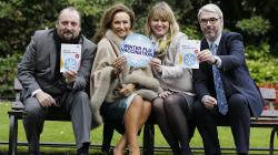 John Holohan of the Asthma Society, businesswoman Celia Holman Lee, Susan O'Dwyer from Boots and Justin Moran of Age Action launch the winter flu vaccination campaign.