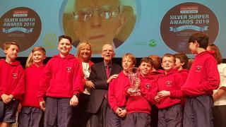 Age Action Silver Surfer Awards Florence McGillicuddy with Ballyroan Boys NS