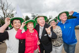 Francis Brennan and friends launching Positive Ageing Week with a senior safari at Dublin Zoo